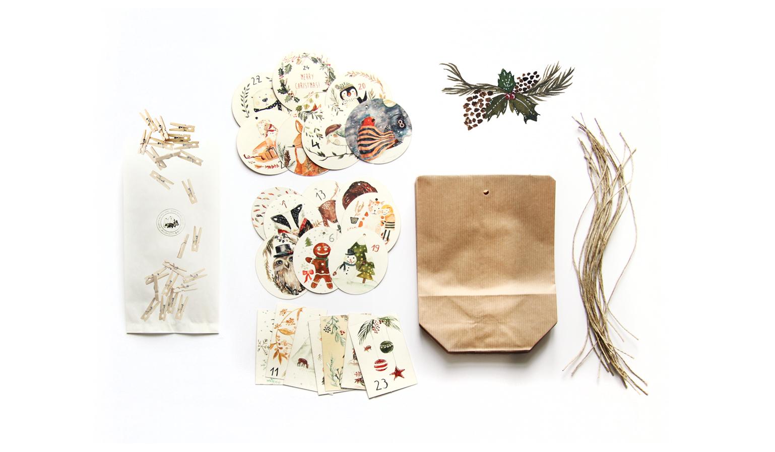DIY Adventskalender mit Waldtieren