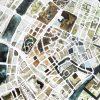 Handgemalter Aquarellstadtplan Copenhagen