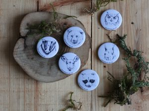 Waldtier Buttons