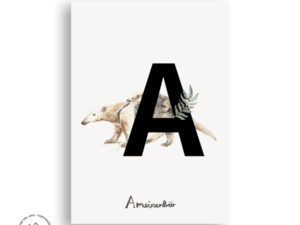 Tier ABC | Postkarte | A