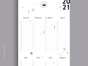 New adventures | Wandkalender 2021