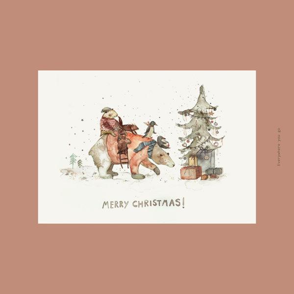 Merry Christmas | Postkarte