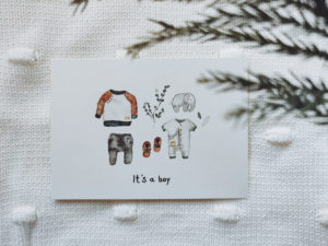 It's a boy | Postkarte