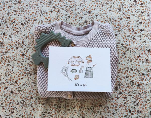 It's a boy   Postkarte