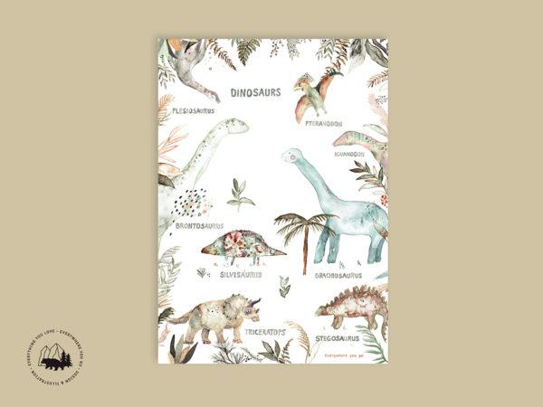 Artprint   Dinosaurier
