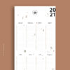 Wandkalender Waldtiere 2021