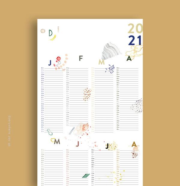 Graphischer Wandkalender 2021