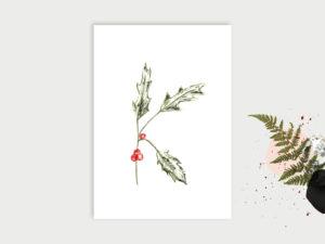 Wald ABC | Postkarte | A
