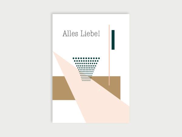 Alles Liebe | Postkarte