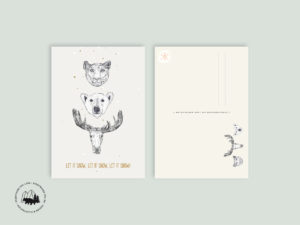Let it snow | Postkarte