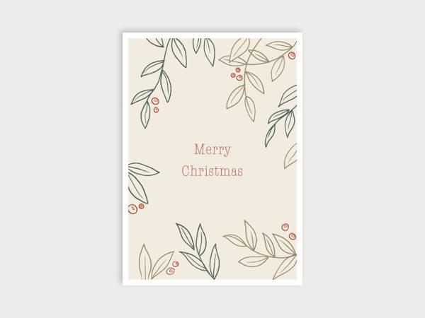 Fröhliche Weihnachten | Postkarte