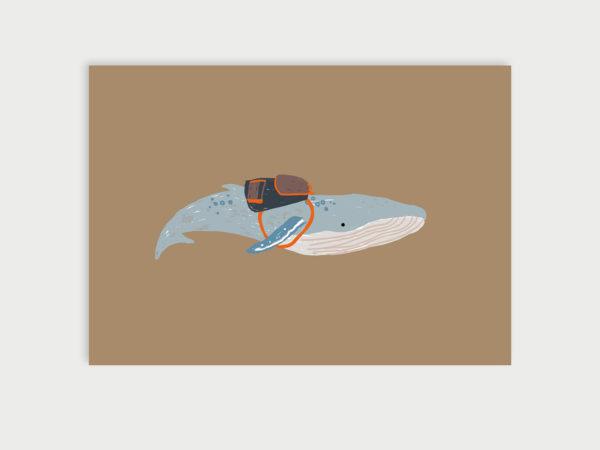 Gute Reise kleiner Wal | Postkarte