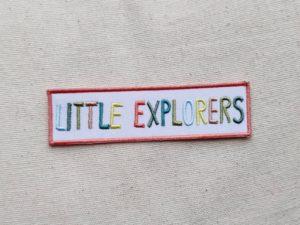 Little explorers / Patch zum Aufbügeln