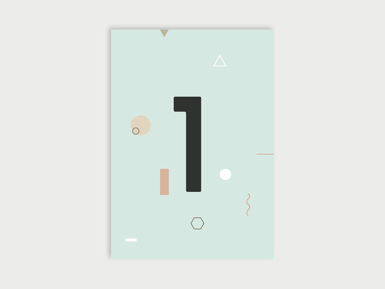 Zahlenpostkarten